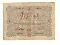 1848 as 5 forint Kossuth bankó papírpénz bankjegy 48 49 es szabadságharc pénze sor űű a