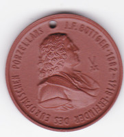 BÖTTGER 1682-1719  A POPERCELÁN FELTALÁLÓ EMLÉKÉRE