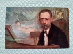 Régi képeslap K. Nejedly Smetana művészi levelezőlap