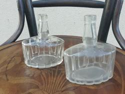 Gschwindt likőrös üveg palackok, 2db