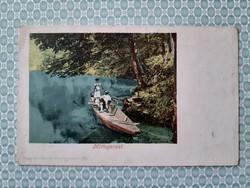 Régi képeslap Mittagsrast művészi levelezőlap
