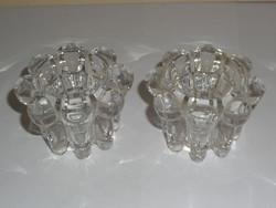 Üveg mécses, gyertyatartó ( 2 db.)