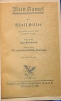 Német nyelvű ideológiai könyv.Adolf Hitler.Mein Kampf 1934 kiadás 781 számozott oldal.