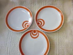 3 db retro süteményes tányér