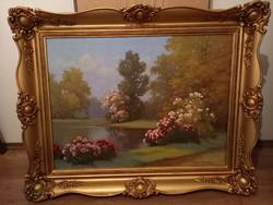 Tordai Székely Mihály olaj festmény