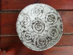 Retro Tófej kerámia tányér