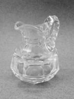 Antik vastagfalu üveg kis kancsó