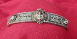Antik Cári ezüst, nieolo diszítéssel. 19 sz.