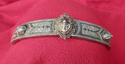 Antique Persian belt buckle with pair of nieolo decorations. 18 Sz.