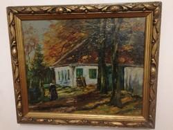 Pállya Carolus eredeti antik olajfestménye, -1 forintról - teljeskörű garanciával.
