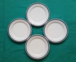 4 db.  kék csíkos Alföldi porcelán süteményes tányér,kistányér