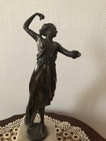 ANTIK  bronz Táncos lány talapzaton