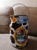 Ritka, igen nagy méretű (4,5 liter) Chupa Chups doboz, tejeskanna formájú, szép állapotban