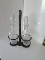 Szép állapotú art deco ecet és olaj fűszertartó