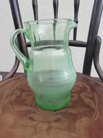 Régi halvány zöld üveg kancsó
