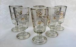 Biedermeier kézzel festett pohár készlet