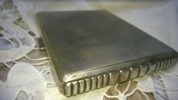 Ezüst Art deco cigaretta dózni-cigaretta szelence-tárca