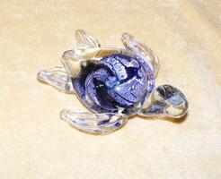Üveg teknős figura