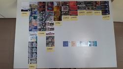 48 db magyar + 2 db francia + 2 db görög telefonkártya csomag 1992-2004-ig