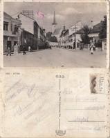 Románia Dés főtér kb1940 RK MET. körbe lyukas.