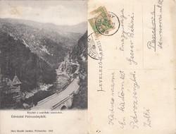 Románia Petrozsény részlet a Szurdoki szorosból 1908 RK MET