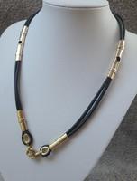 Arany-kaucsuk nyaklánc 31 g.arany