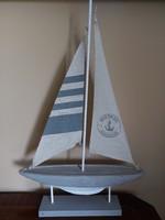 Vitrorlás dekor hajó 56 cm magas