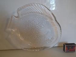 Üveg - NAGY - HAL ALAKÚ TÁL - NÉMET - 26 x 23 x 3,5 cm - HIBÁTLAN