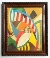 Réth Alfréd - Dinamizmus című, 1947-ben készített festménye