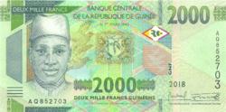 GUINEA 2000 Franc 2018 UNC