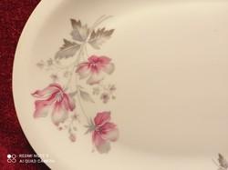 Retró Alföldi porcelán magnólia mintás kínáló