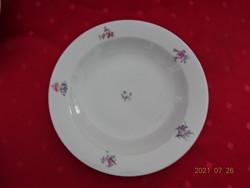 Alföldi porcelán apró virágos mélytányér, átmérője 23 cm. Vanneki!