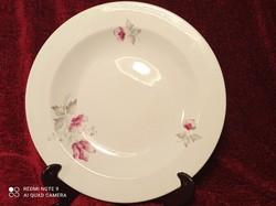 Retró Alföldi porcelán magnólia mintás mély tányér, 5 db