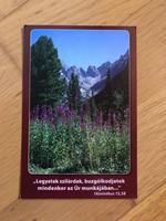 Vallási idézet képeslap  -  Tátrai táj a Poprádi tó környékén
