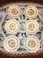 Zsolnay kézzel festett süteményes tányér készlet