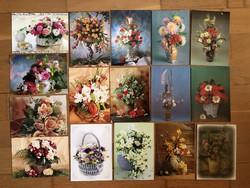Virágos képeslapok  - ár / db        -4 cs .