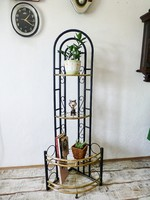 Retro,mid-century modern sarokpolc,virágtartó állvány,retro bútor