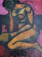 Dallos Lívia (Budapest, 1927 - ?): Térdeplő akt