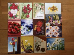 Virágos képeslapok  - ár / db        -9 cs .