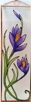 Hand painted floral glass painting with copper frame hand painted floral glass painting with cooper fram