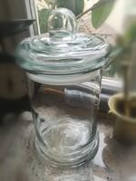 Sütemény tároló óriás üveg edény 33 x 20 cm