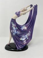 Dekoratív Goldscheider porcelán táncosnő- Sérült- CZ