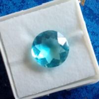 4.80 karátos gyémánt formájú kék akvamarin drágakő tanúsítvánnyal