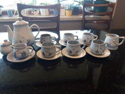 Hattyús kávéskészlet