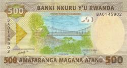 Ruanda 500 Franc 2019 UNC