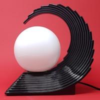 "Art Deco stílusú kerámia ""Wave lamp"" éjjeli lámpa - CZ"