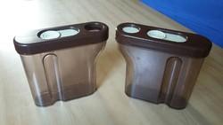 Két retro műanyag konyhai tároló, Idea Iparművészeti Vállalat