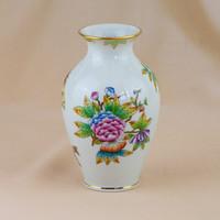 3 db Herendi váza: Viktoria, Apponyi és Indiai kosár mintákkal