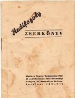 1946 Hadifogoly zsebkönyv. Bp