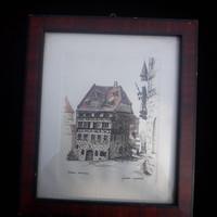 Sieglinde Meythalen :Nürnberg Dürer Haus /lithográfia/